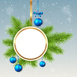 Round Christmas banner Royalty Free Stock Image