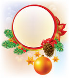 Round Christmas banner Royalty Free Stock Photos