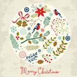 Round Christmas composition Royalty Free Stock Photo