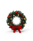 Round Christmas decoration Stock Photo