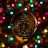 Round Christmas decoration stock images