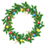 Round Christmas garland Royalty Free Stock Images