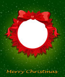 A round christmas template Stock Photography