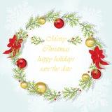 Round Christmas wreath Stock Image
