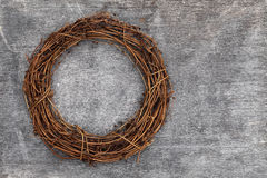 Round christmas wreath Royalty Free Stock Images