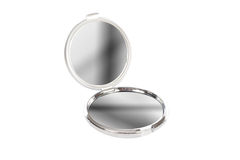 Round Chrome Mirror Stock Images