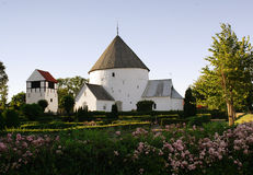 Round church in Bornholm Stock Photo