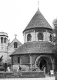Round Church in Cambridge. England Black and white Stock Photography