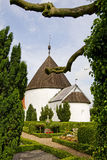 Round Church Ols In Bornholm, Denmark Stock Photo