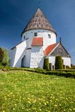 Round Church Ols Kirke St. On Bornholm Royalty Free Stock Photography