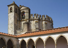 Round Church over Gothic Cloister, Tomar Stock Photography
