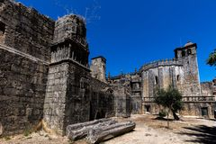 The main church of the Convent of Tomar, Portugal Stock Photography