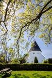 Round church St. Ols Kirke on Bornholm Stock Photos