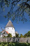 Round church St. Ols Kirke on Bornholm Stock Photography