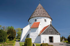 Round Church St. Ols Kirke On Bornholm Royalty Free Stock Images