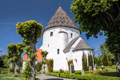 Round Church St. Ols Kirke On Bornholm Stock Images