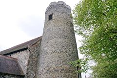 Round church tower. Stock Photography