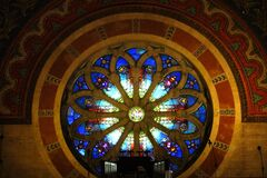 round church window Stock Image