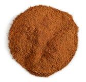 Round cinnamon powder Royalty Free Stock Photos