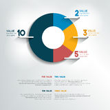 Round, circle chart, graph. Simply color editable. Royalty Free Stock Images