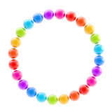 Round circle colorful frame isolated Stock Photos