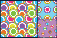 Round circle kids pattern in vector. Rounds pattern, rounds background, circle pattern. circles background, pattern for kids, rings pattern, rings background Stock Photography
