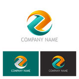 Round circle letter z 3D logo Royalty Free Stock Photo