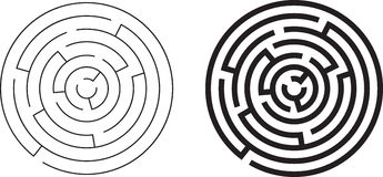 Round circle maze viewed from above Royalty Free Stock Photo