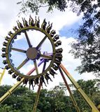 Wheel amusement park extreme fun ride stock photos