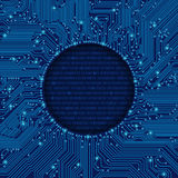 Round circuit board frame Royalty Free Stock Photo