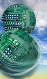 Round Circuit Boards. Stock Photo