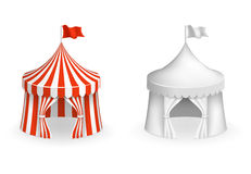 Round circus tent. Festival with entrance vector illustration Royalty Free Stock Images