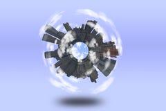 Round City vector illustration