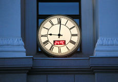 Round city wall clock Royalty Free Stock Photos