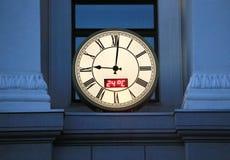 Round city wall clock Royalty Free Stock Photos