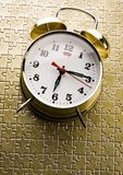 Round clock. Alarm clock is an instrument that shows you what time it is Royalty Free Stock Image