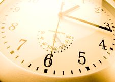 Round clock Stock Photos