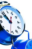 Round clock Stock Images