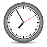 Round clock with gray frame Royalty Free Stock Image