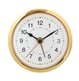 Round clock isolated. Stock Photos