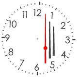 Round clock Stock Photo