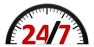 Round-the-clock service, half Stock Image