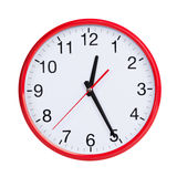 Round clock shows half of the first Royalty Free Stock Photography