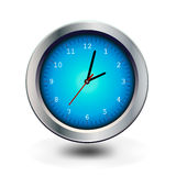 Round clock. Vector illustration. Round clock. image on white background - Vector illustration Stock Photo