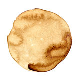 Round coffee stain Royalty Free Stock Photo