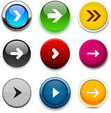 Round color arrow icons. Stock Image