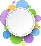 Round color background. royalty free illustration
