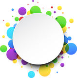 Round color background. stock illustration
