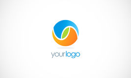 Round color ball eco logo Stock Image