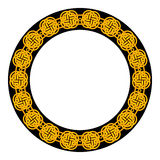 Round color frame in celtic style Stock Image